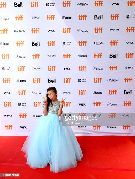 Brooklynn Prince attends 'The Florida Project' premiere during the 2017 Toronto International Film Festival at Ryerson Theatre on September 10 2017...