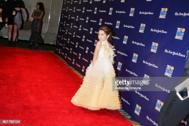 Brooklynn Prince on the red carpet at the 2017 IFP Gotham Awards at Cipriani Wall Street on November 27 2017 in New York NY