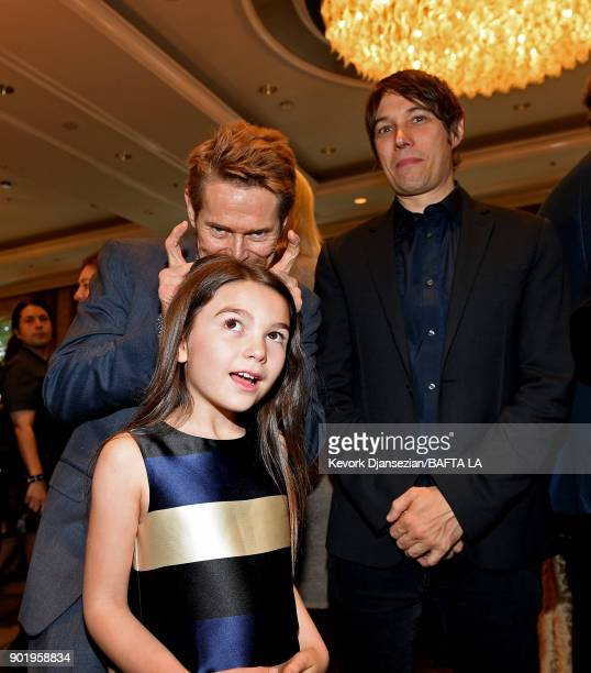Brooklynn Prince Willem Dafoe and Sean Baker attend The BAFTA Los Angeles Tea Party at Four Seasons Hotel Los Angeles at Beverly Hills on January 6...
