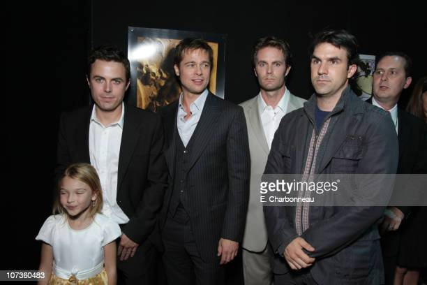 Brooklynn Proulx Casey Affleck Brad Pitt Garret Dillahunt and Paul Schneider and at the Premiere of Warner Bros 'The Assassination of Jesse James by...