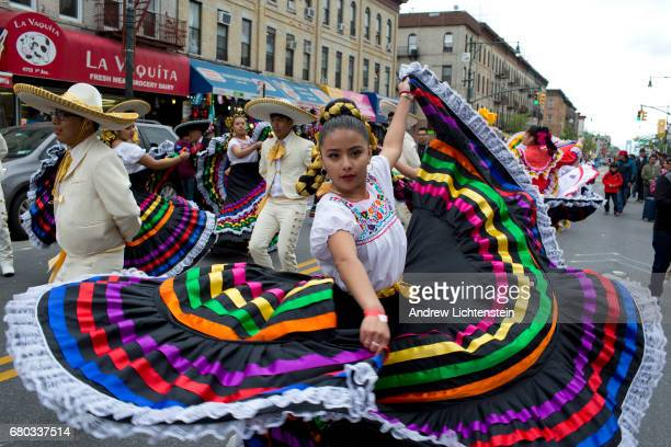 Brooklyn's Mexican community marches down 5th Avenue in the Sunset Park neighborhood during a Cinco de Mayo parade on May 7 2017 in Brooklyn New York...