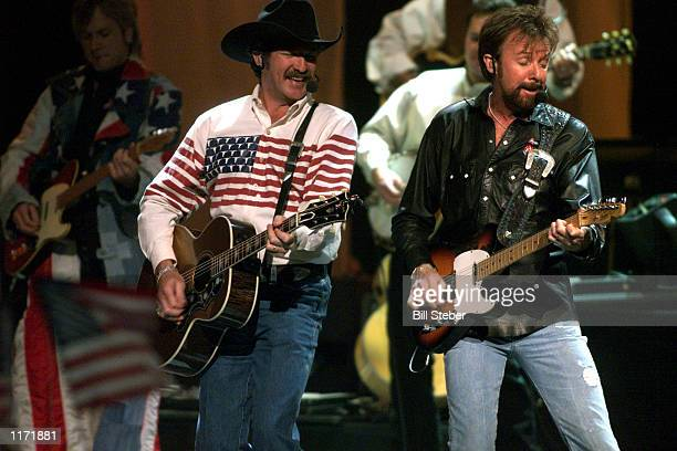Brooks and Dunn perform at the Country Freedom Concert October 21 2001 at Nashville's Gaylord Entertainment Center The concert will benefit the...