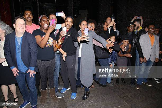 Brooks Ashmanskas Amber Iman Brian Stokes Mitchell Audra McDonald Adrrienne Warren and Billy Porter during the Actors' Equity Opening Night Gypsy...