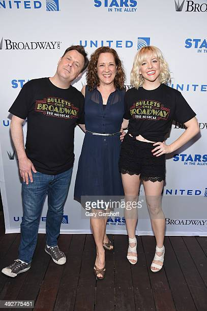 Brooks Ashmanskas Karen Ziemba and Helene Yorke attend 'Stars In The Alley' at Shubert Alley on May 21 2014 in New York City