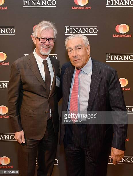 Brooks Brothers CEO Claudio Del Vecchio and Financo chairman Gilbert Harrison attend Financo CEO Forum 2017 on January 16 2017 in New York City