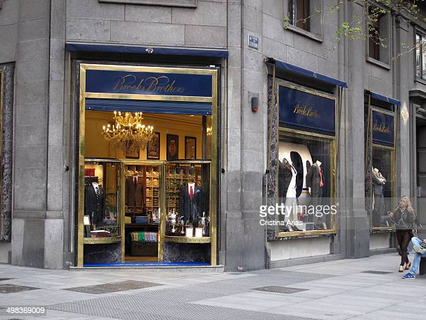 Brooks Brothers store in Serrano street of Madrid this is the oldest men's clothier chain in the United States and it is iknown for classic clothing...