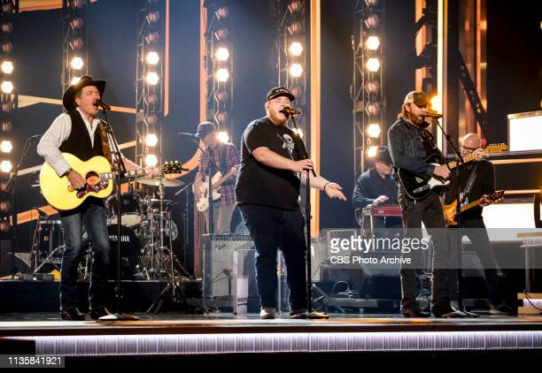 Brooks Dunn and Luke Combs rehearses for the 54TH ACADEMY OF COUNTRY MUSIC AWARDS to broadcast LIVE from MGM Grand Garden Arena in Las Vegas Sunday...