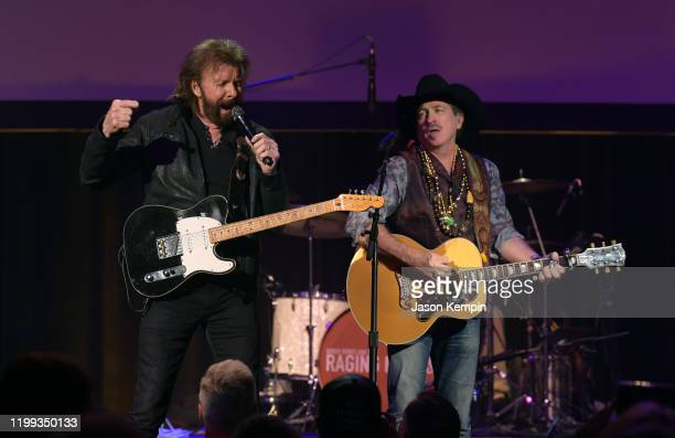 Brooks Dunn perform at the Bobby Bones The Raging Idiots' 5th Annual Million Dollar Show at Ryman Auditorium on January 13 2020 in Nashville Tennessee