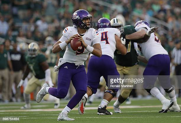 Brooks Haack of the Northwestern State Demons throws against the Baylor Bears in the first half at McLane Stadium on September 2, 2016 in Waco, Texas.