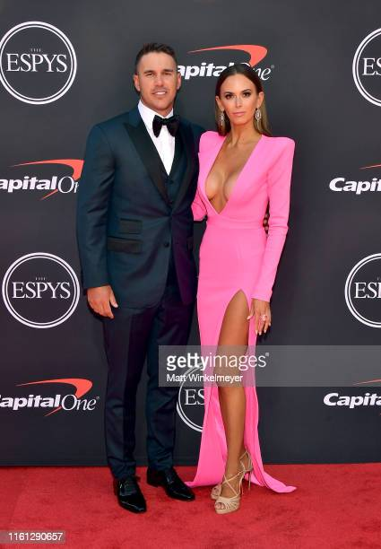 Brooks Koepka and Jena Sims attend The 2019 ESPYs at Microsoft Theater on July 10 2019 in Los Angeles California