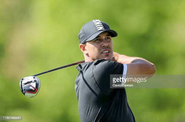 Brooks Koepka of the United States plays his tee shot on the sixth hole during the third round of the 2019 PGA Championship on the Black Course at...