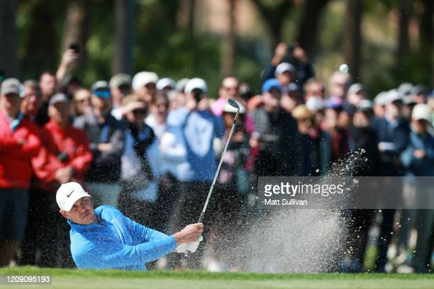 Brooks Koepka of the United States plays his third shot on the third hole during the first round of the Honda Classic at PGA National Resort and Spa...