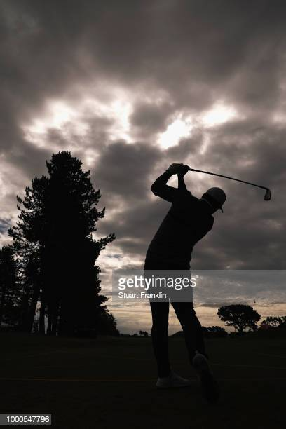Brooks Koepka of the United States tees off during previews to the 147th Open Championship at Carnoustie Golf Club on July 17 2018 in Carnoustie...
