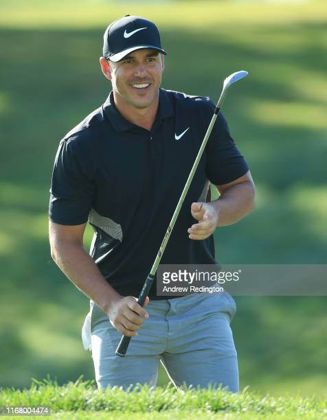 Brooks Koepka of the USA in action during practice for the BMW Championship at Medinah Country Club on August 13, 2019 in Medinah, Illinois.