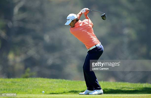 Brooks Koepka of the USA plays his tee shot on the par 4 12th hole during round two of the World Golf Championship Cadillac Match Play at TPC Harding...