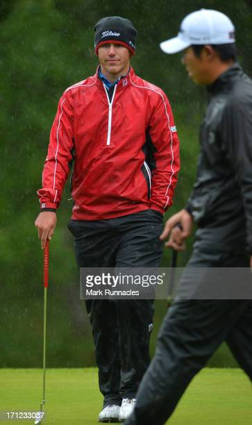 Brooks Koepka of the USA winner of the Scottish Hydro Challenge hosted by MacDonald Hotels Resorts on June 23 2013 in Aviemore Scotland
