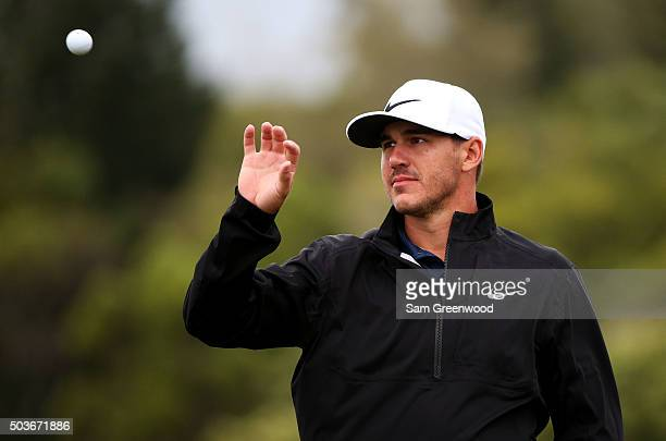 Brooks Koepka reacts during the Hyundai Tournament of Champions ProAm at  the Plantation Course at Kapalua ec846621a5a