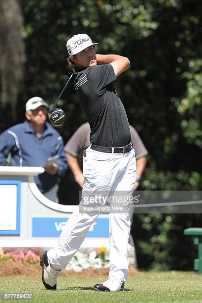Brooks Koepka tees off during the second round of the Valspar Championship at Innisbrook Resort - Copperhead in Palm Harbor, Florida.