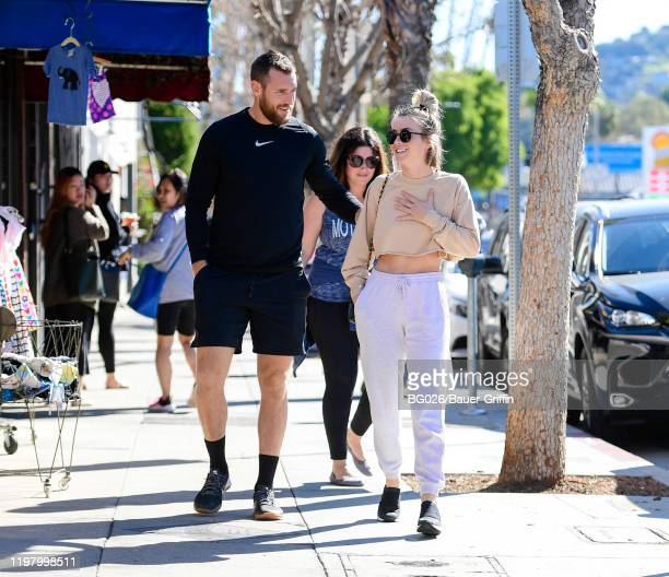 Brooks Laich and Julianne Hough are seen on February 01 2020 in Los Angeles California