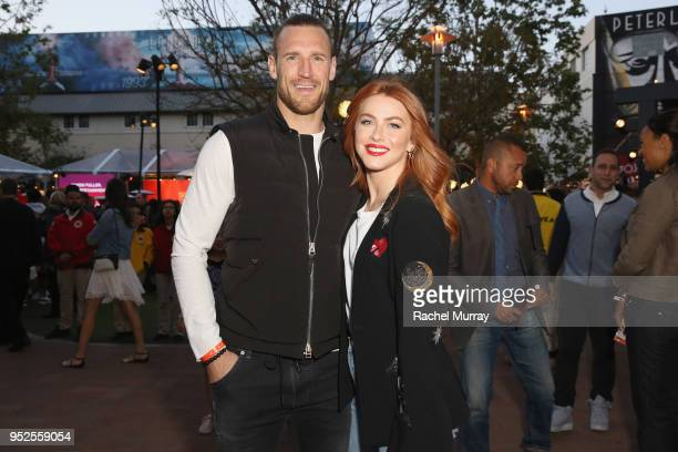 Brooks Laich and Julianne Hough attend City Year Los Angeles' Spring Break Destination Education at Sony Studios on April 28 2018 in Los Angeles...