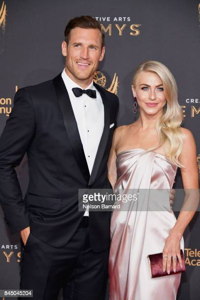 Brooks Laich and Julianne Hough attend day 1 of the 2017 Creative Arts Emmy Awards at Microsoft Theater on September 9 2017 in Los Angeles California