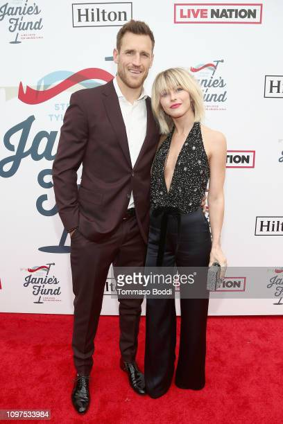 Brooks Laich and Julianne Hough attend Steven Tyler's Second Annual GRAMMY Awards Viewing Party to benefit Janie's Fund presented by Live Nation at...