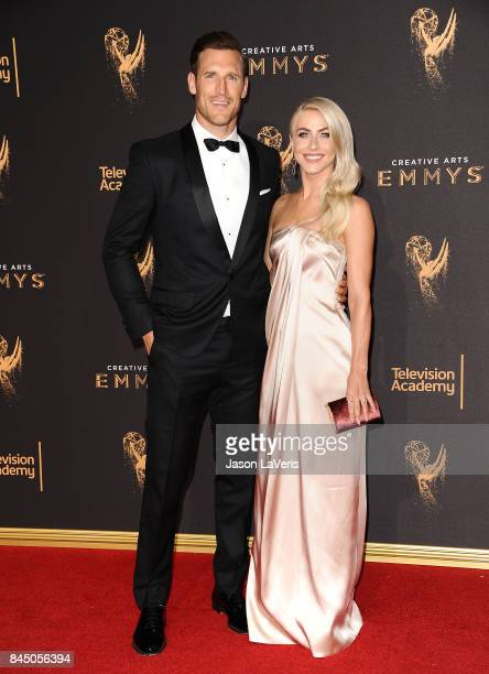 Brooks Laich and Julianne Hough attend the 2017 Creative Arts Emmy Awards at Microsoft Theater on September 9 2017 in Los Angeles California