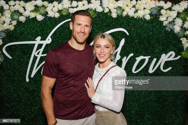 Brooks Laich and Julianne Hough attend the Paint Sip Help event to Benefit Children's Hospital Los Angeles hosted by The Grove on October 12 2017 in...
