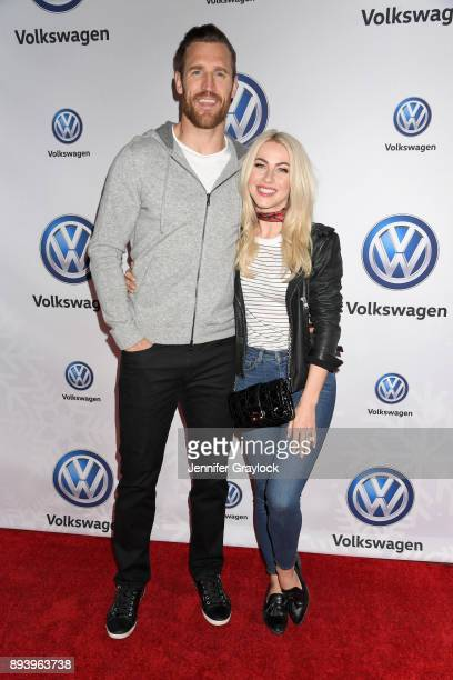 Brooks Laich and Julianne Hough attend the Volkswagen Holiday DriveIn Event at Releigh Studios in Los Angeles California on December 16 2017