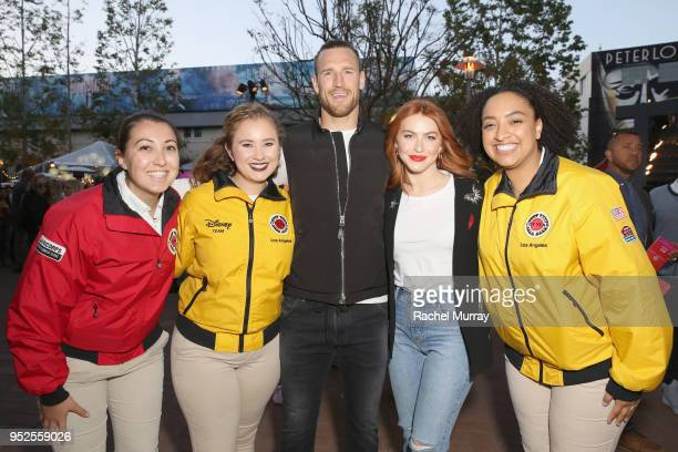 Brooks Laich and Julianne Hough with City Year AmeriCorps members attend City Year Los Angeles' Spring Break Destination Education at Sony Studios on...