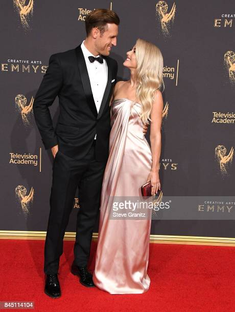 Brooks Laich Julianne Hough arrives at the 2017 Creative Arts Emmy Awards Day 1 at Microsoft Theater on September 9 2017 in Los Angeles California