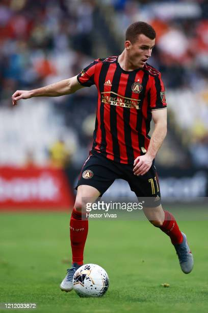Brooks Lennon of Atlanta United drives the ball during a quarter final first leg match between Club America and Atlanta United as part of CONCACAF...