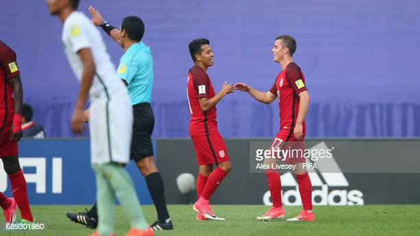 Brooks Lennon of USA celebrates after scoring the opening goal during the FIFA U20 World Cup Korea Republic 2017 group F match between USA and Saudi...