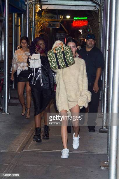 Brooks Nader Justine Skye and Kendall Jenner are seen in Greenwich Village on September 11 2017 in New York City