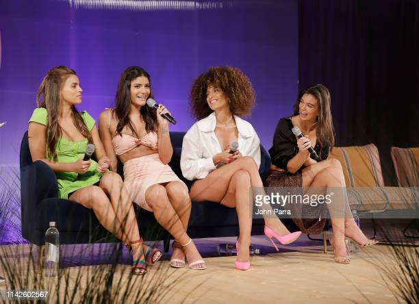 Brooks Nader Maria Alejandra Hernandez Jessica Aidi and Erin Willerton attend the Sports Illustrated Swimsuit On Location at Ice Palace on May 10...