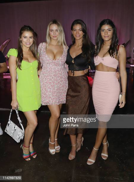 Brooks Nader Raine Michaels Erin Willerton and Manuela Alvarez Hernandez attend the Sports Illustrated Swimsuit On Location at Ice Palace on May 10...