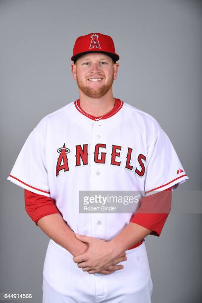 Brooks Pounders of the Los Angeles Angels poses during Photo Day on Tuesday February 21 2017 at Tempe Diablo Stadium in Tempe Arizona