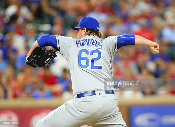 Brooks Pounders throws in the ninth inning against the Texas Rangers at Globe Life Park in Arlington on July 30 2016 in Arlington Texas