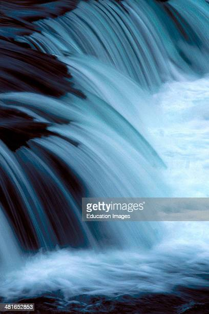 Brooks River Falls Alaska Picturesque Soft Flowing Water the last obstacle before the Sockeye salmon spawning ground
