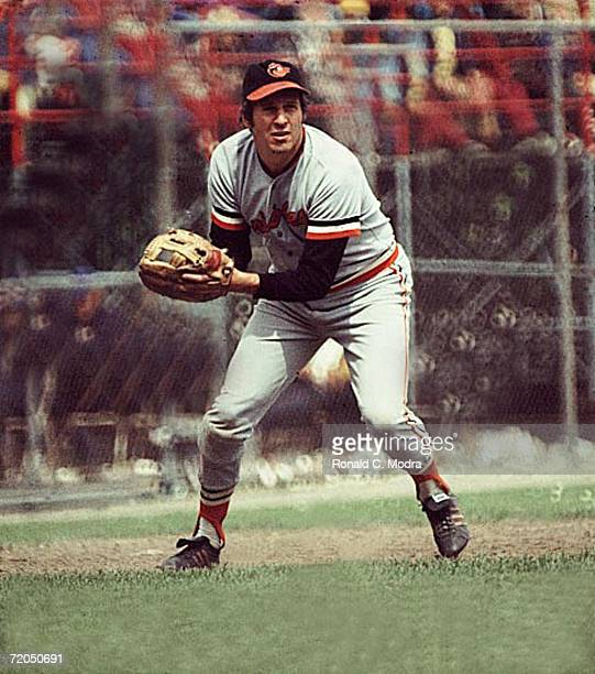 Brooks Robinson of the Batimore Orioles in spring training in 1970 in Miami Florida