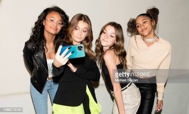 Brookyln Queen Sophie Fergi Sarah Dorothy Little and Lala Solit pose for selfie at The Artists Project Hosts Portraits For The Premiere of...