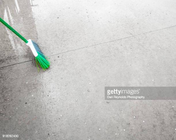 Broom at Construction Site