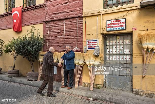 Broom display on the wall, Istanbul Turkey