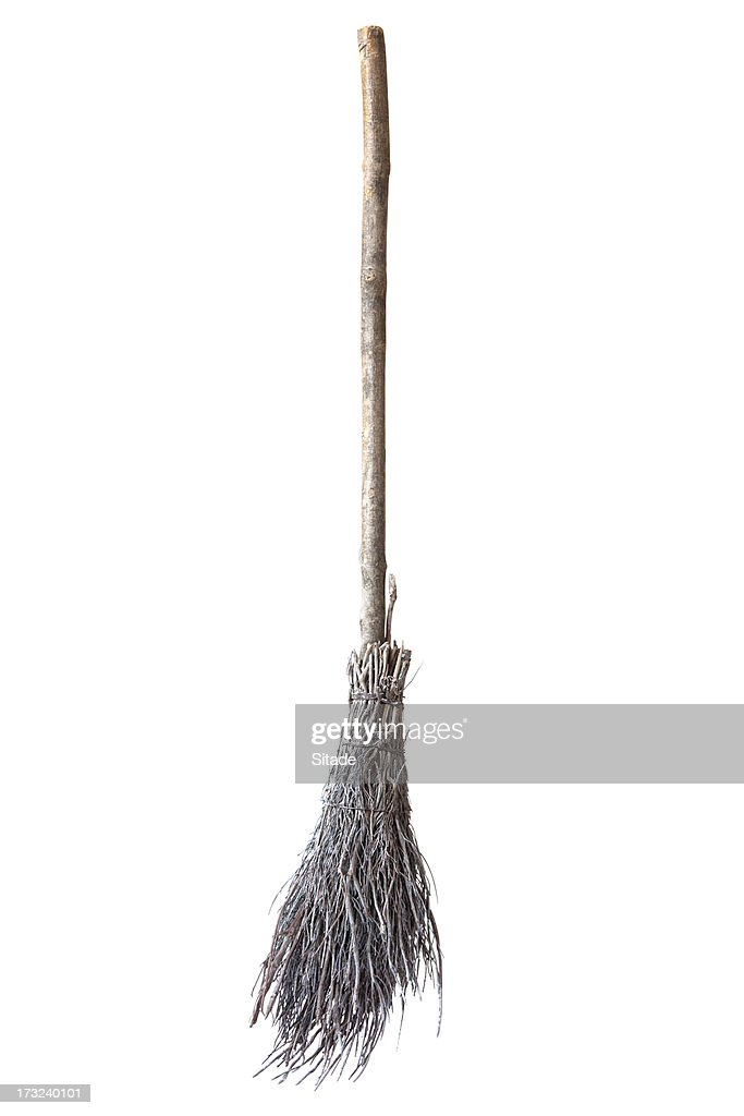 Broom Made Of Twigs : Stock Photo
