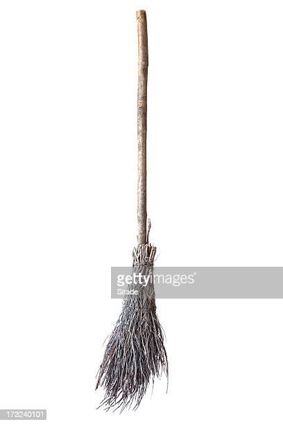 broom made of twigs - broom stock pictures, royalty-free photos & images