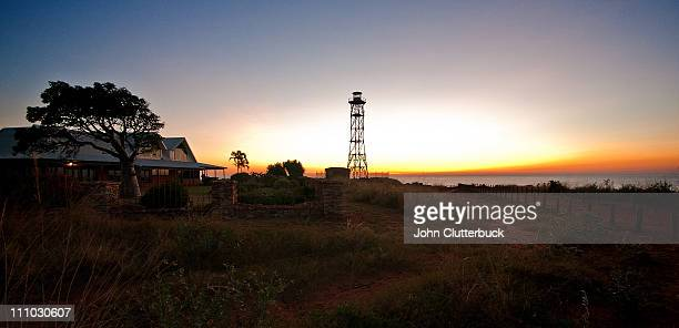 broome lighthouse at sunset wa australia - rural scene stock pictures, royalty-free photos & images