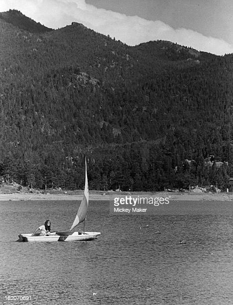 SEP 6 1975 SEP 10 1975 Broomfield Cadette Scout Sails Sea Snark At Wellington Lake Cheryl Taylor was one of 32 Cadettes who earned Amercan Red Cross...