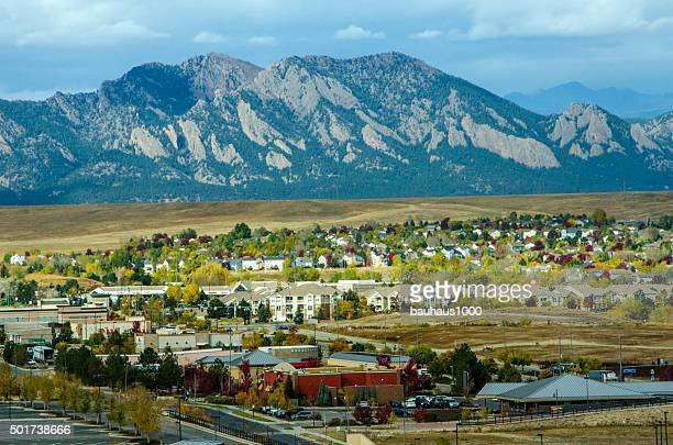 Broomfield, Colorado and the Flatiron Mountain Range
