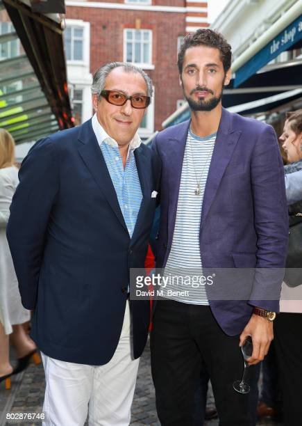 Broosk and Hugo Taylor attend the Taylor Morris Eyewear x Aspall Tennis Classic Player's Party at Bluebird Chelsea on June 28 2017 in London England