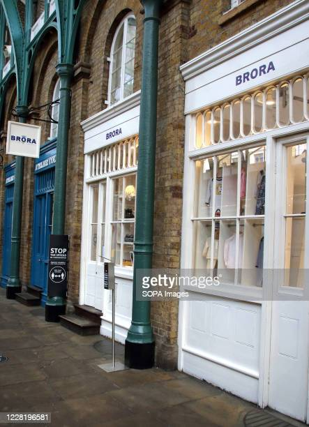 Brora scottish cashmere store seen at Covent Garden in Central London.